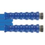 Защита от перегиба DN12 Blufood, 23,5mm, синяя ребристая - резина