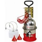 Установка для замены и прокачивания тормозной жидкости и системы сцепления с набором адаптеров