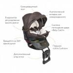 Кресло детское автомобильное Kurutto NT2 Premium, группа 0+/1, коричневое