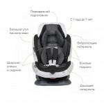 Кресло детское автомобильное Swing Moon Premium, группа 1/2, черно-серое