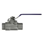 Кран шаровой (нерж. сталь, макс давление 140bar, 60°C, 1/2внут-1/2внут)