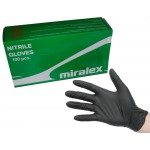 Перчатки нитриловые MIRALEX, размер XXXL, черные упак. 100 шт
